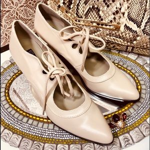 Shoes - NWOT Victorian laced pumps PU vegan leather
